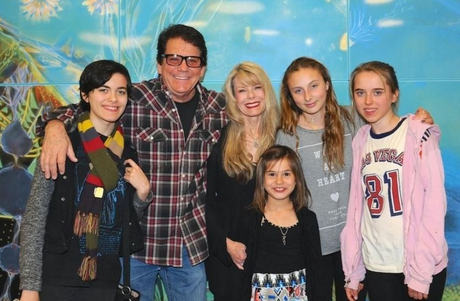 Anson Williams With His Kids And Ex-wife, Jackie Gerken