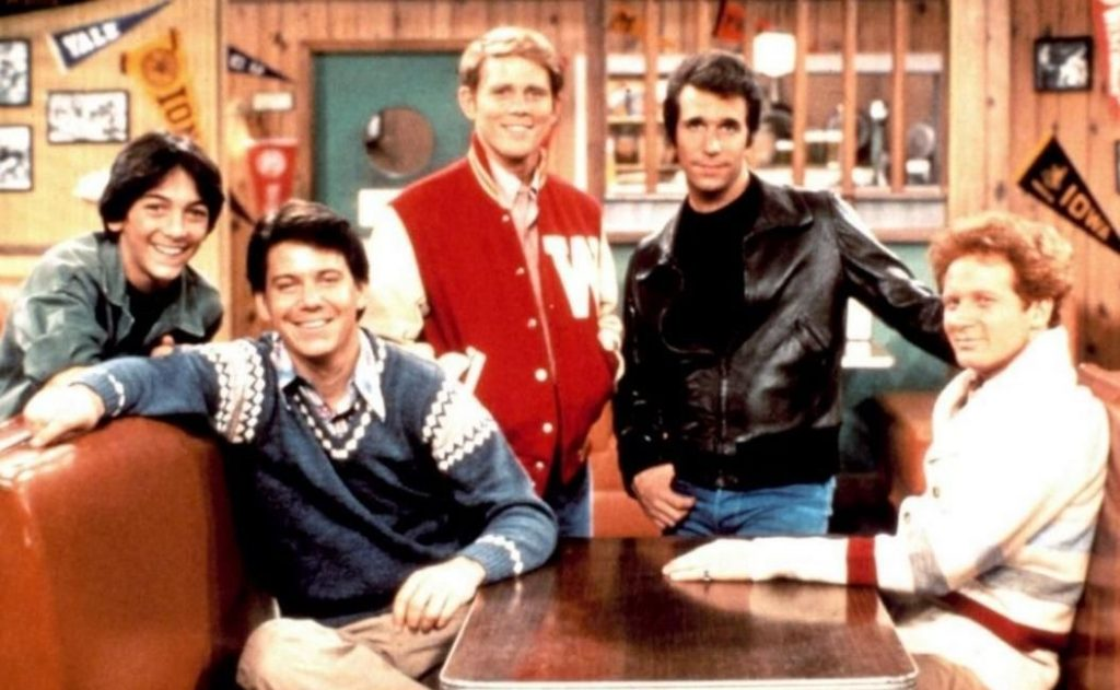 Anson Williams With His Happy Days Co-stars