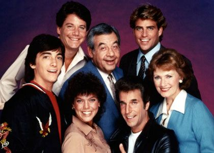 Young Baio with Joanie Loves Chachi stars