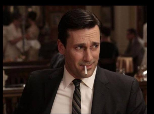 Jon Hamm as Don Draper in the series, Mad Men