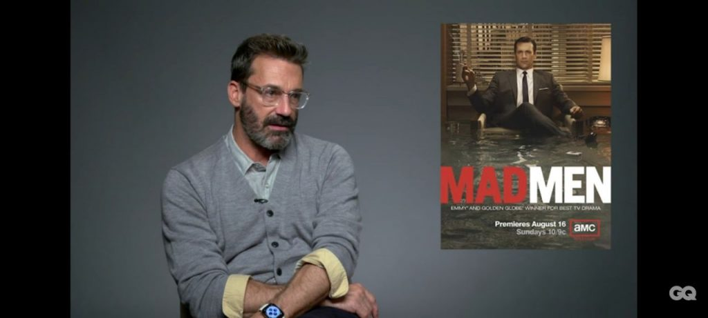Jon Hamm speaking on Mad Men