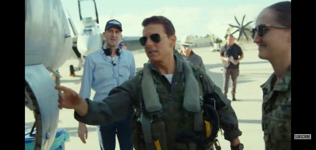 "Tom Cruise as Captain Pete ""Maverick"" Mitchell in Top Gun: Maverick"
