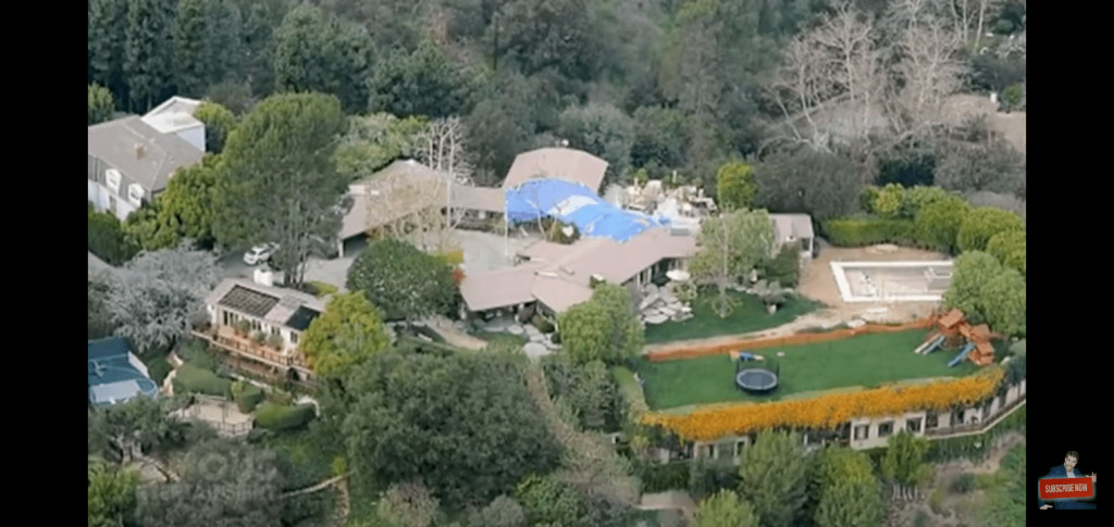 Affleck and Garner's house in Pacific Palisades