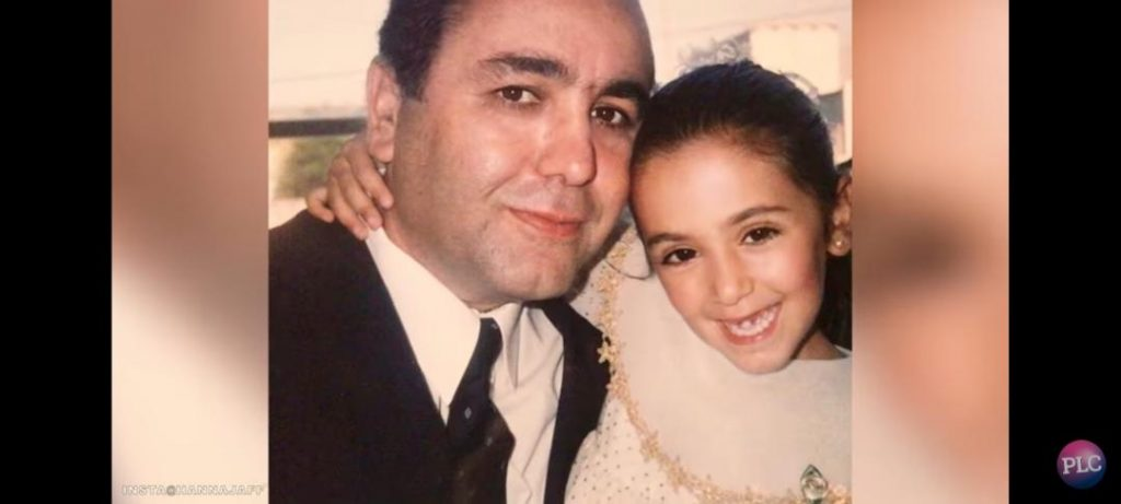 Dawood Jaff with his young daughter, Hanna
